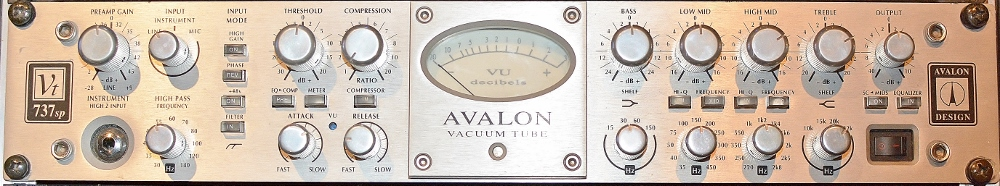 AVALON 737 Tube channel