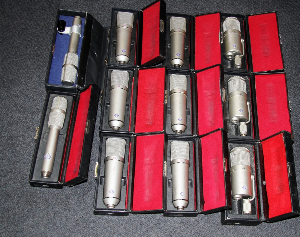Collection of Neumann Microphones
