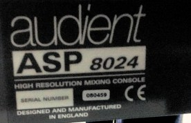 AUDIENT ASP 8024 Serial Number