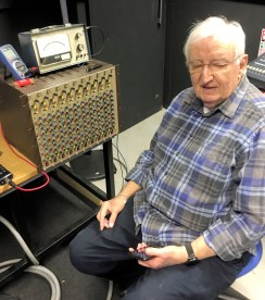 Anthony Waldron at the CADAC CD1000 rack