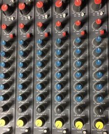 Hill Audio 28 x 16 console. Channel  EQ