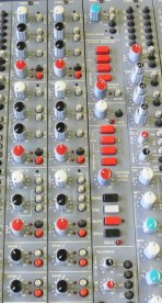 Amek Angela Recording console used. Effects Return modules